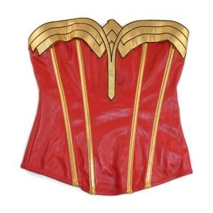 Other - DC Comics WW Wonder Woman Pleather Corset S *Flaw